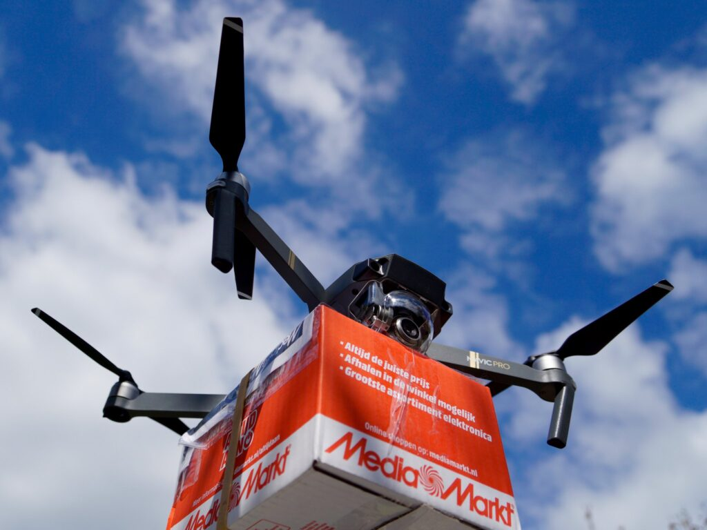 Vaccine distribution in India using drones
